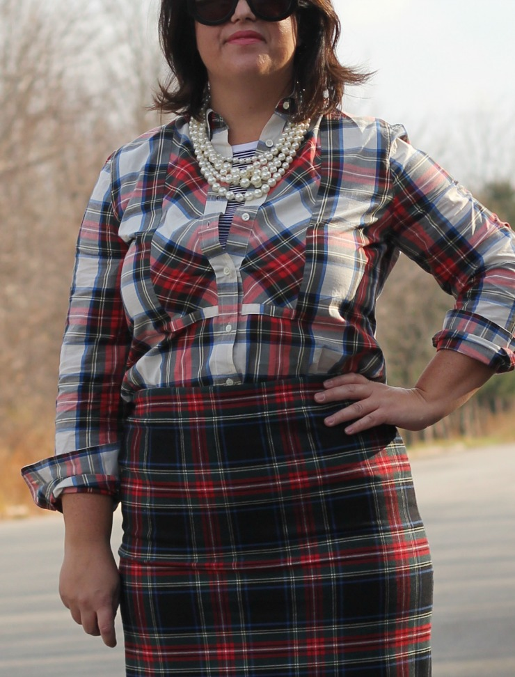 double plaid christmas outfit
