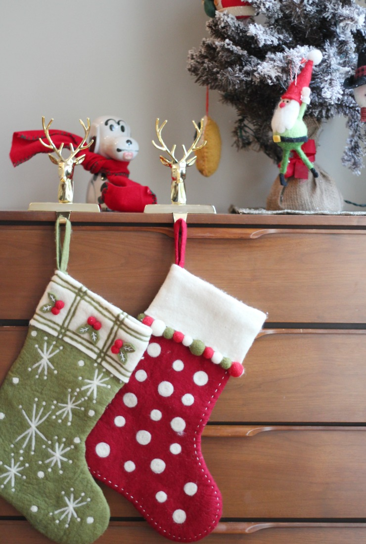 where to hang a stocking when you don't have a fireplace