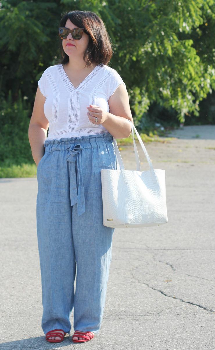 paper bag waist pants
