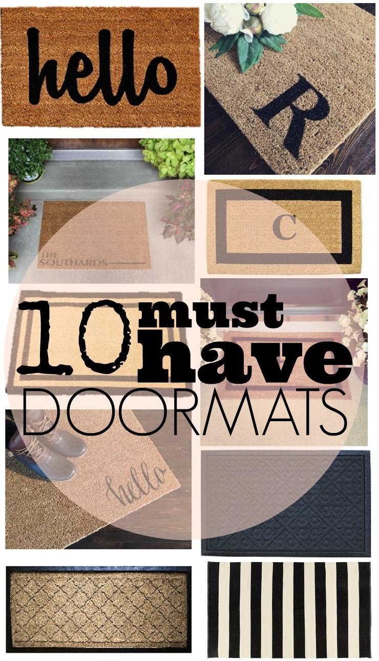 10 must have doormats, welcome mat, outdoor mat