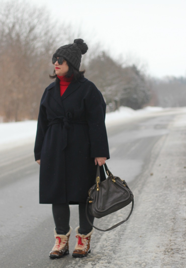 navy winter outfit